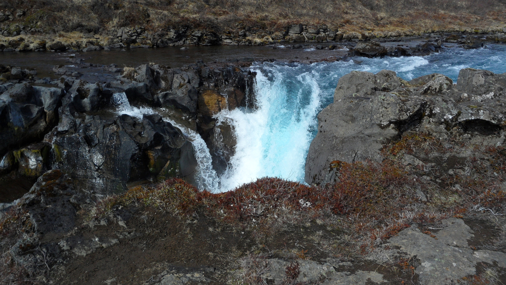 There were three (or four, depending on exactly what you count as a waterfall) waterfalls on the way to Bruarfoss.