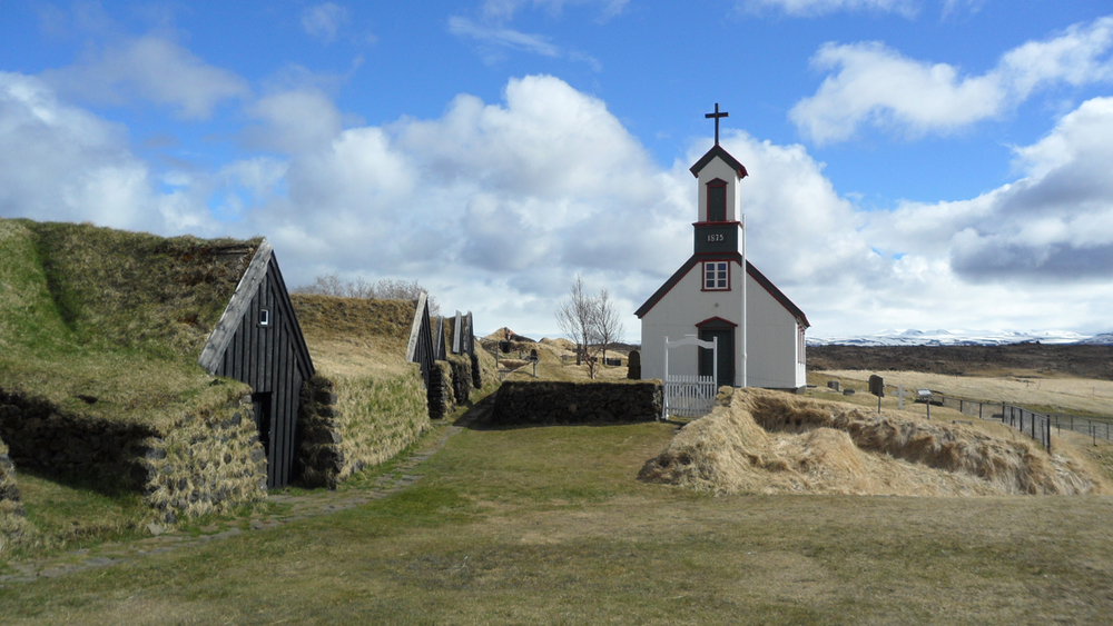 The church at Keldur. It seems like every church we saw in rural Iceland had this basic design.
