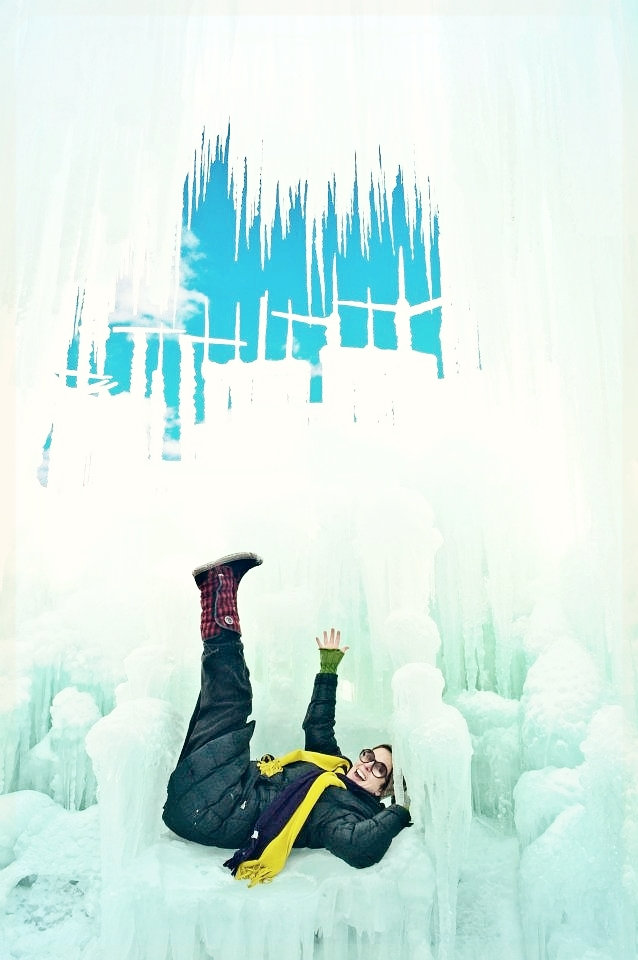 This is me having fun in an ice castle in Colorado.