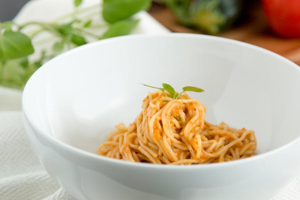 Roasted Veggie Sauce With Angel Hair Pasta Nutritious Vida