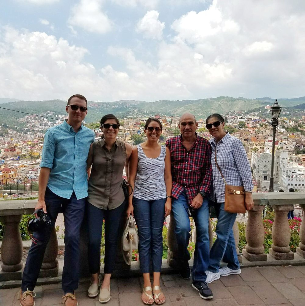 Family photo in Guanajuato