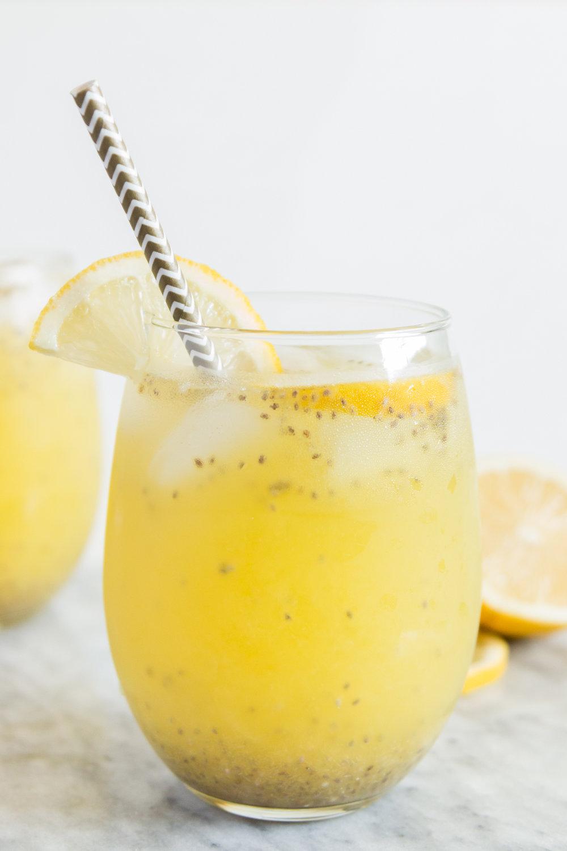 Limonada con Chia y Piña