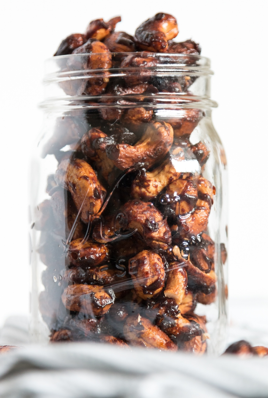 Get your snack on during the holidays with these Candied Cashews