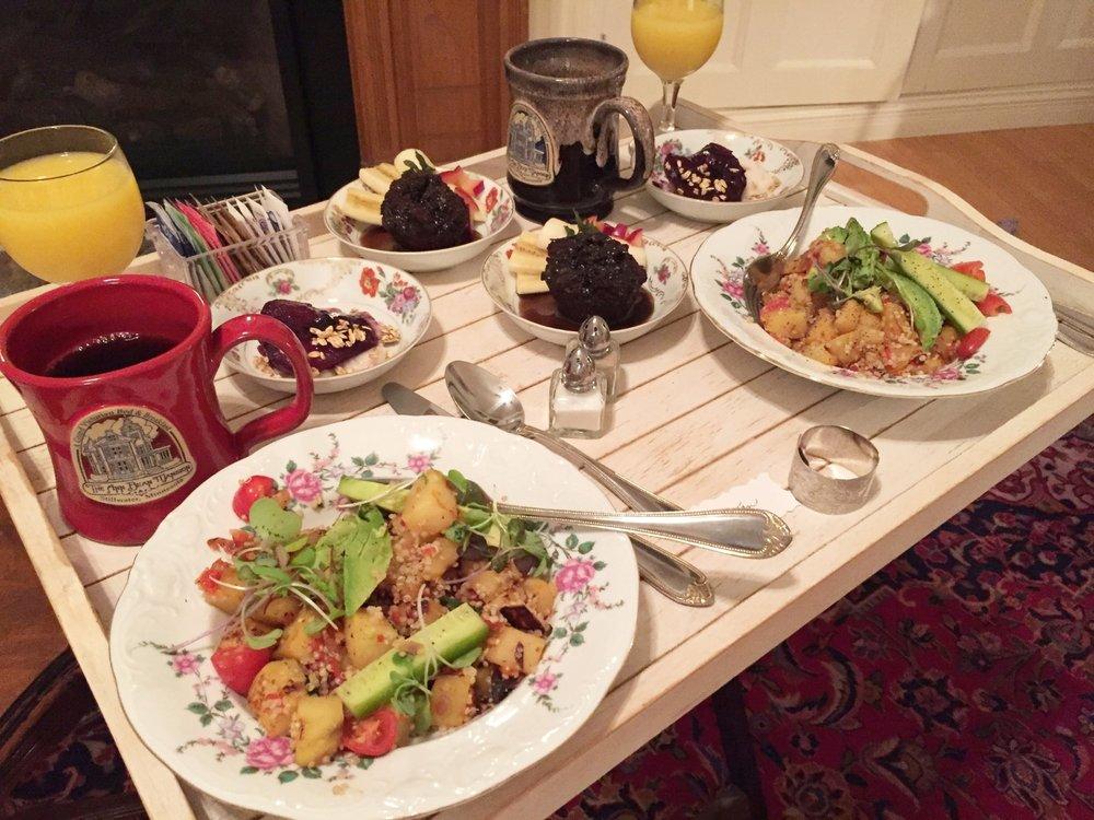 Vegan Breakfast at Ann Bean Mansion