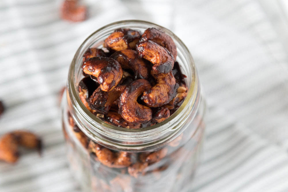 Cinnamon Candied Cashews