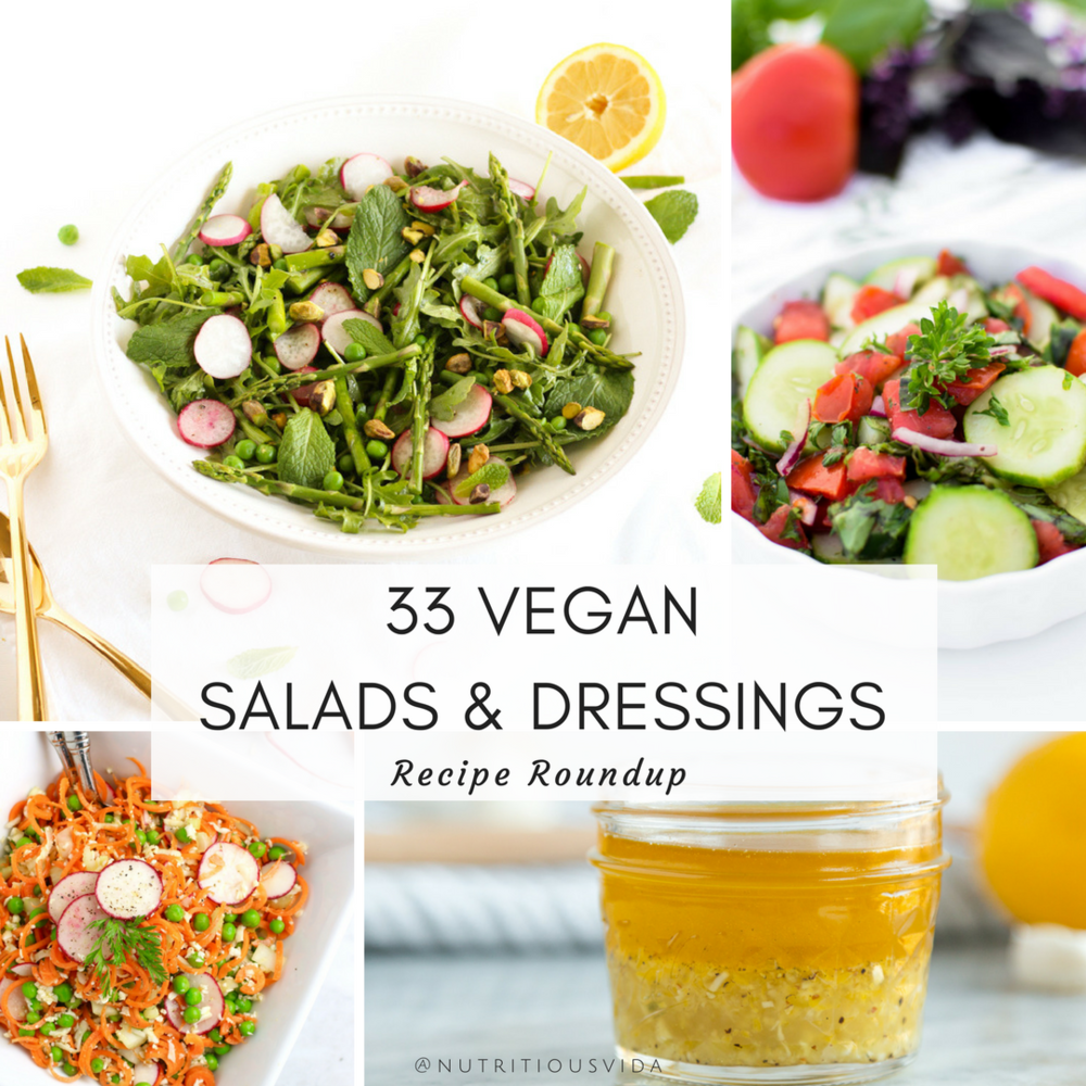 Vegan Salad Recipe Roundup -