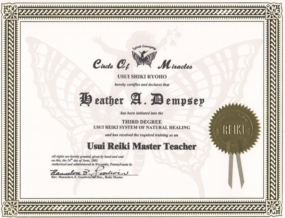 1st Master | Teacher Training 2001