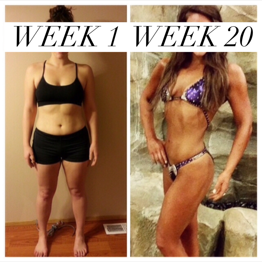 Skylar did a 20 week prep period for her first figure competition and these are her results. :)