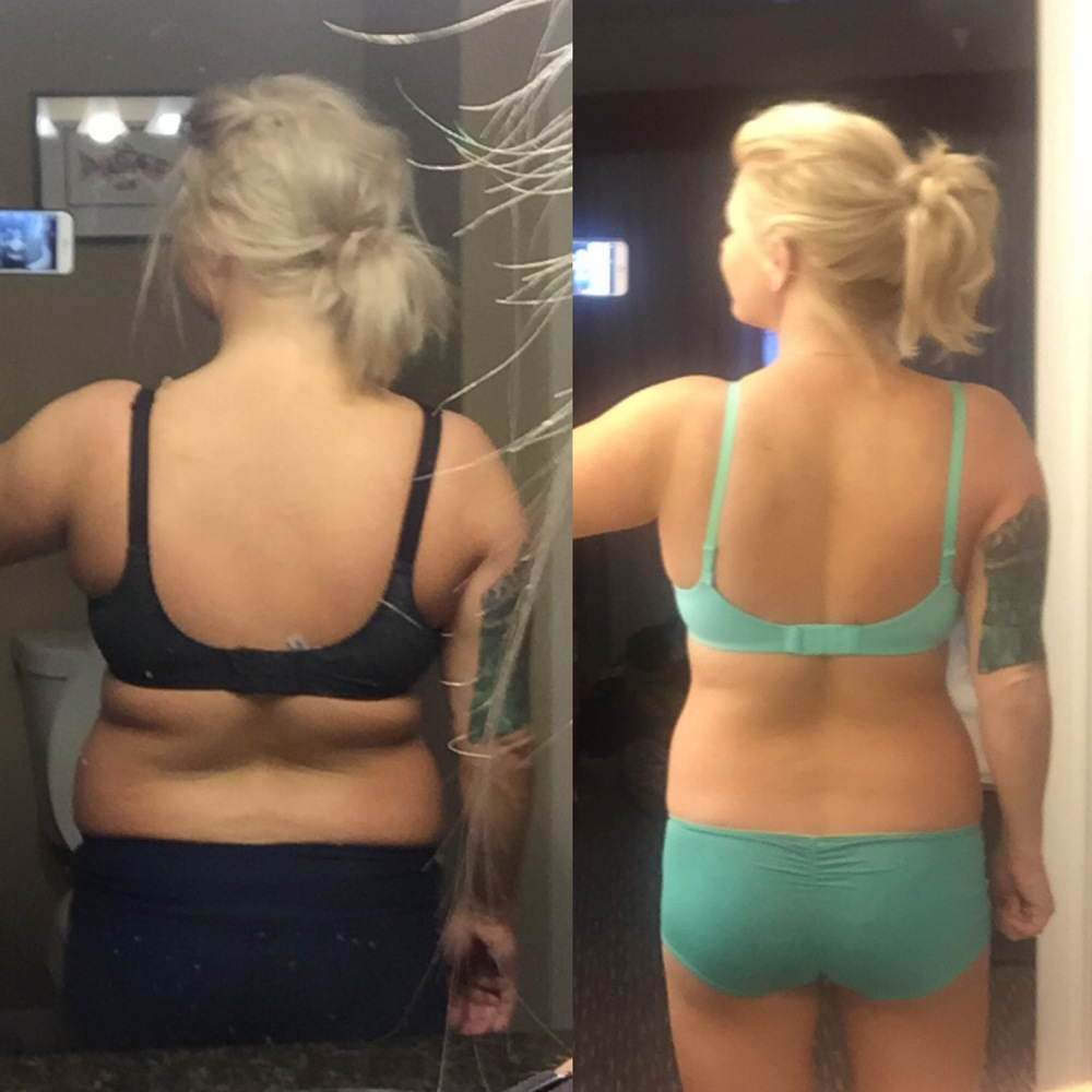 Tori after 12 weeks of online training!