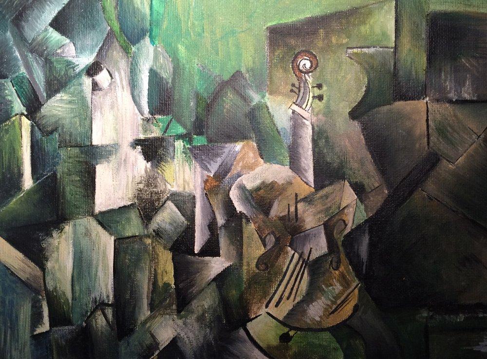 George Braque Violin Palette Study