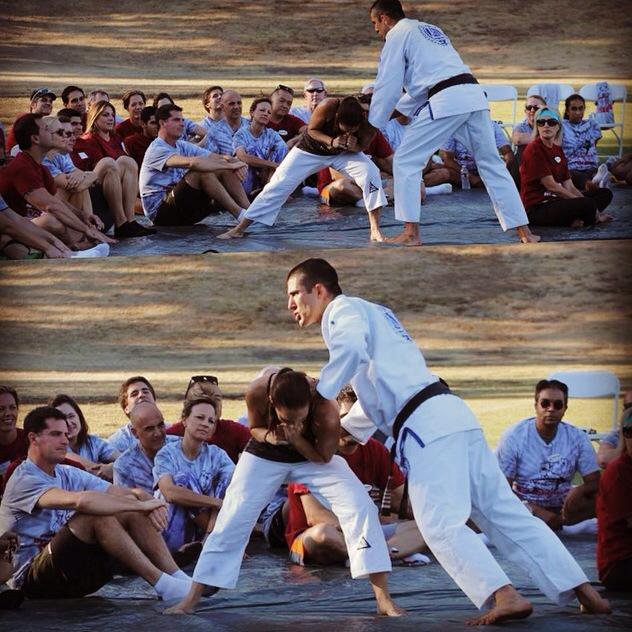 GJJ teaches a smaller person to defend against - a larger, stronger, faster opponent.