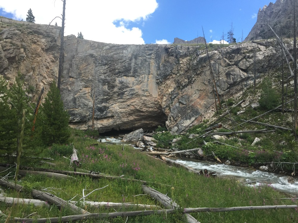 Clear Creek Natural Bridge - Northern Wind River Range, Wyoming