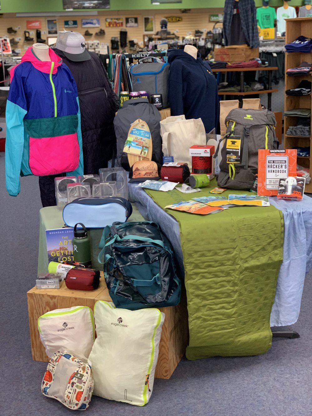 Spring Fling Prizes - For a chance to win, buy raffle tickets here online, or in person at Wild Iris Mountain Sports. You do not need to be present to win, but you would miss out on the fun and games happening during Spring Fling on April 5th.
