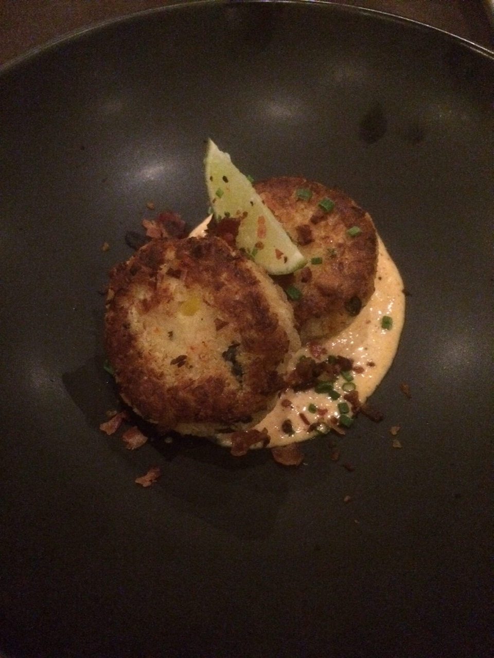 Seared crabcakes. $12