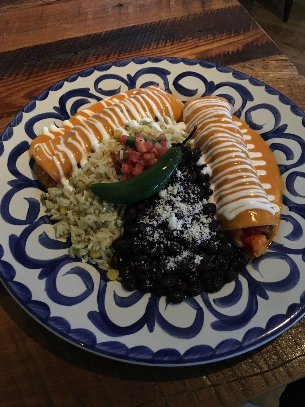 Lobster Enchiladas