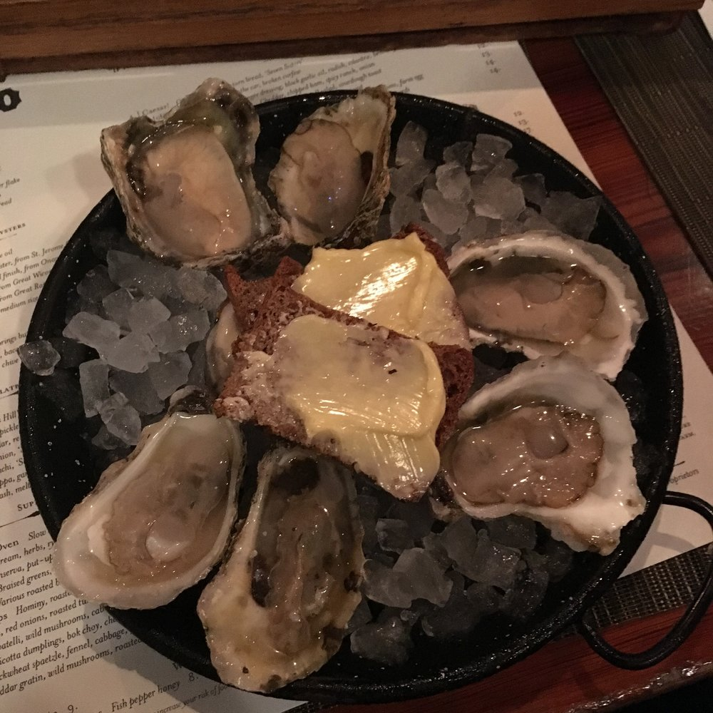 Oysters $18