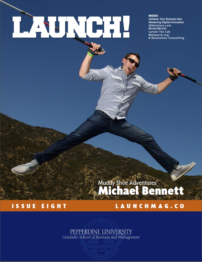 Pepperdine's Launch! Magazine cover article featuring Michael.