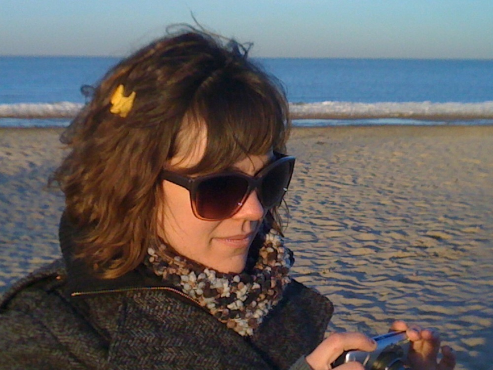 Margaret on the beach in Chicago.jpg