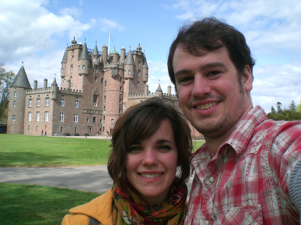 Margaret and Tim at Glamis Castle in Scotland.JPG