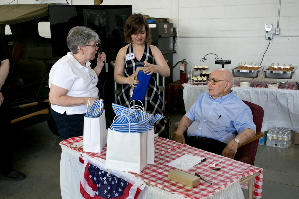 Mary and Margaret McCall w Bob at raffle.jpg