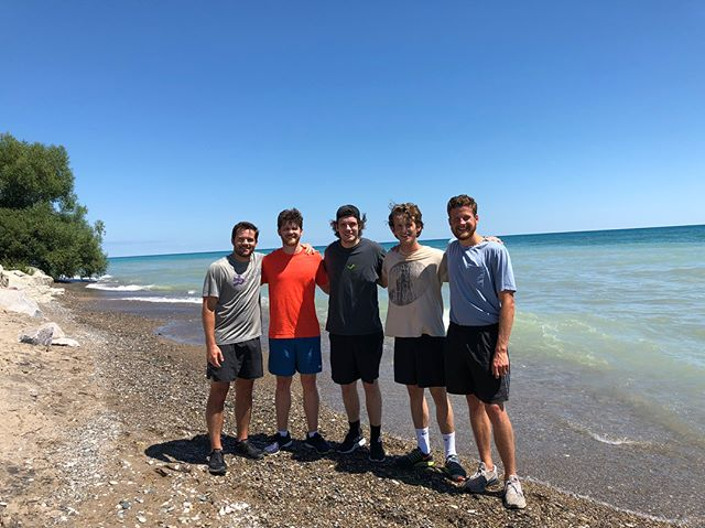 It's the first time seeing Lake Michigan for several of us, and we couldn't be more thankful for a beautiful day in Racine, WI. Got some much needed exercise in... now it's time to find a Bloody Mary. 😉 Pumped to play at @colectivocoffee in Milwaukee tomorrow, Appleton on Friday, Madison on Saturday. Cheers y'all! 😎