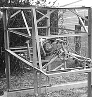 Carl Peterson's first prototype in 1986 using old bike parts.