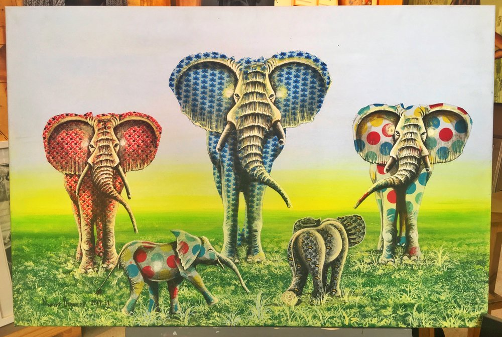 UNIQUE ELEPHANT ARTWORK BY A SOUTH AFRICAN ARTIST