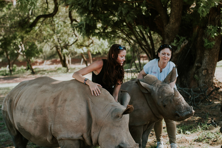Shannon with Jana Pretorius at the Rhino Pride Foundation