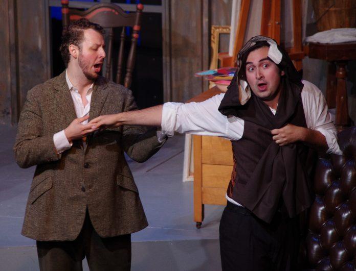Sebastian Haboczki (Rodolfo) and Bruno Roy (Marcello) in Highlands Opera Studio's La Bohème. Photo: John Martens