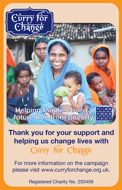 Curry for Change promotional card
