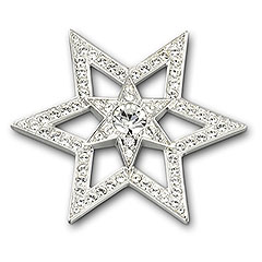 Swarovski star brooch