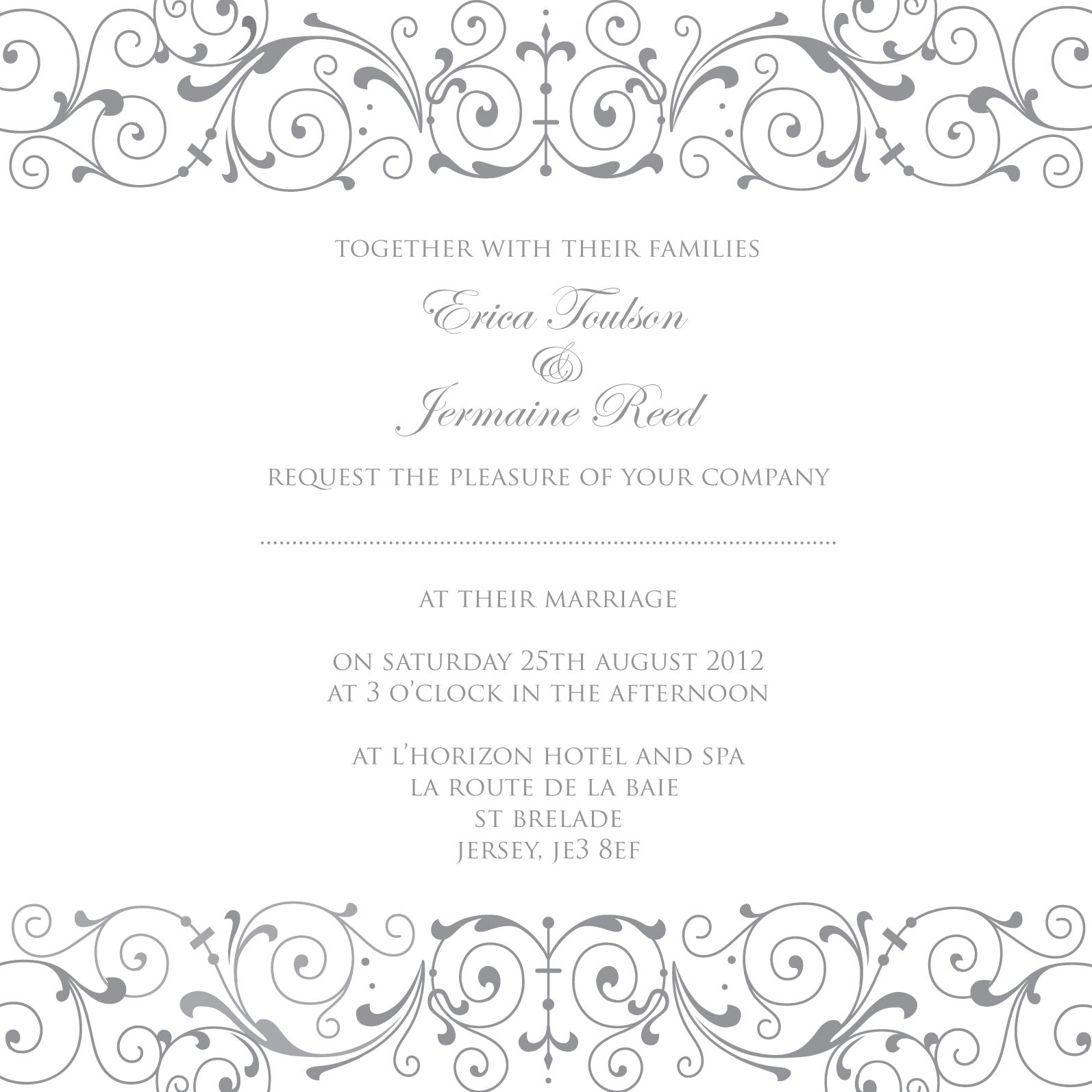 Wedding Invitations In Elegant Shades of Grey — ananya
