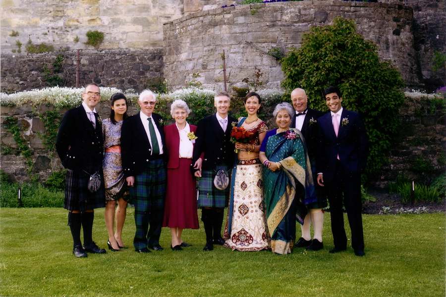 wedding guests at Stirling Castle