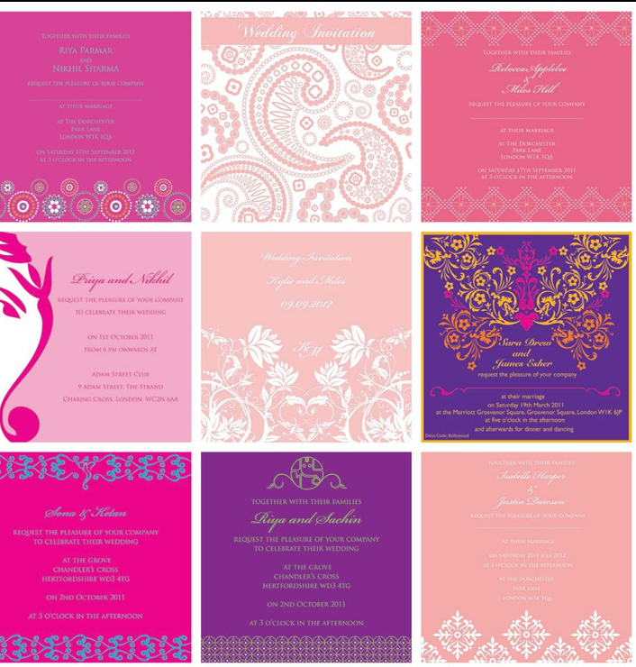 Pink cards by Ananya Cards