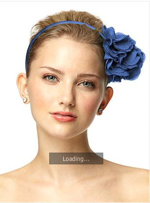 blue hair accessories in spring wedding colours
