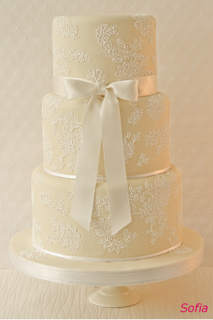 Tiered wedding cake by The Abigail Bloom Cake Company