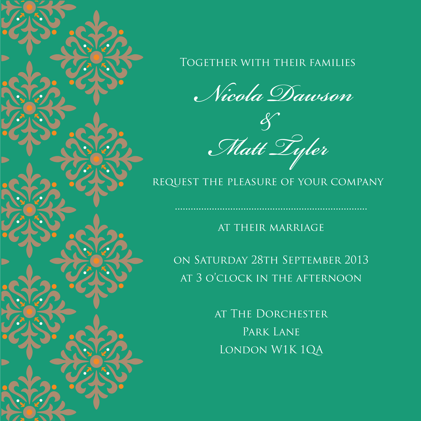Exotic Emerald Wedding Invitation By Ananya
