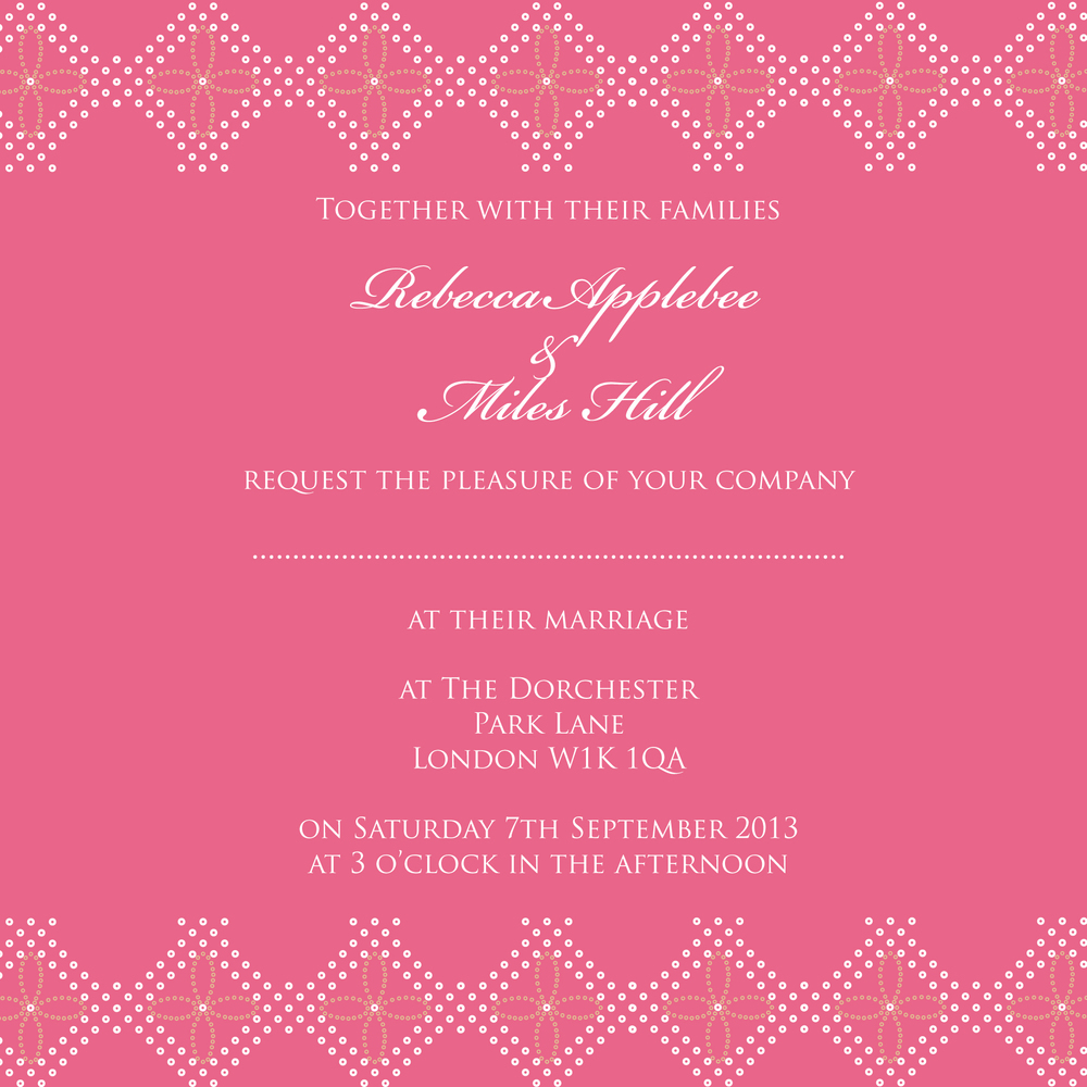 Bandhani Bliss India inspired wedding invitation