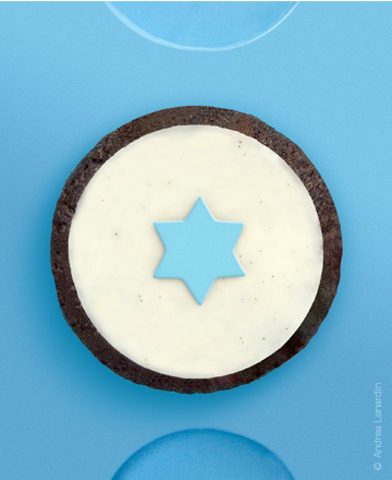 Star chocolate cupcake