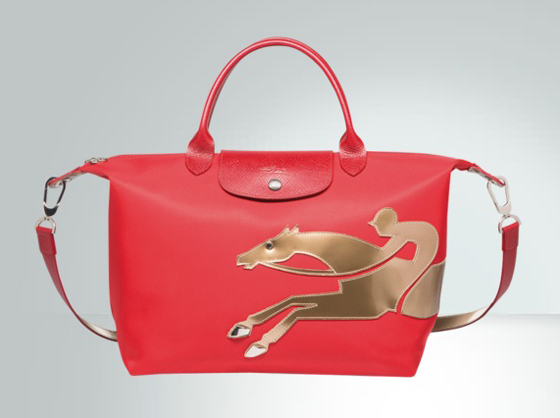 Langchamp's galloping horse handbag