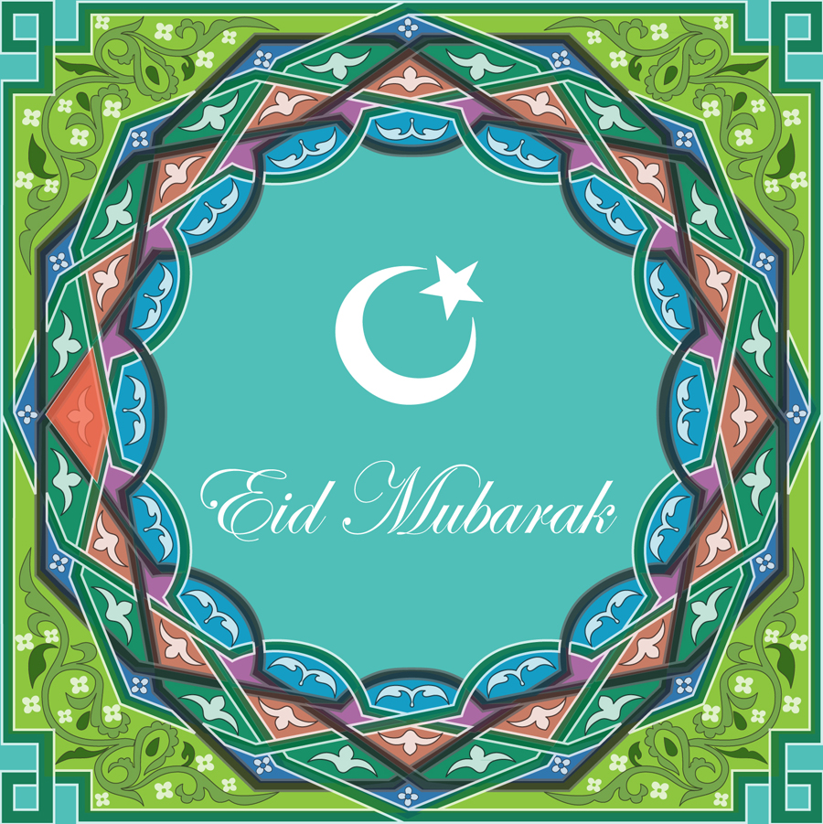 Greeting card by Ananya to send at Eid