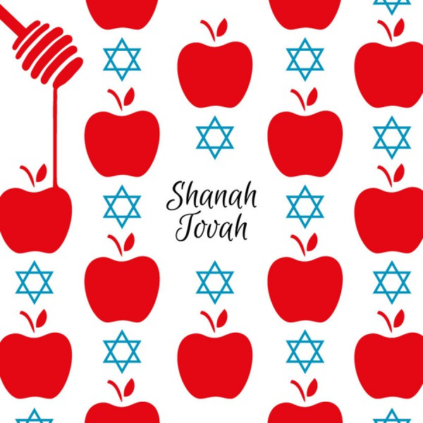Jewish New Year Greeting Card