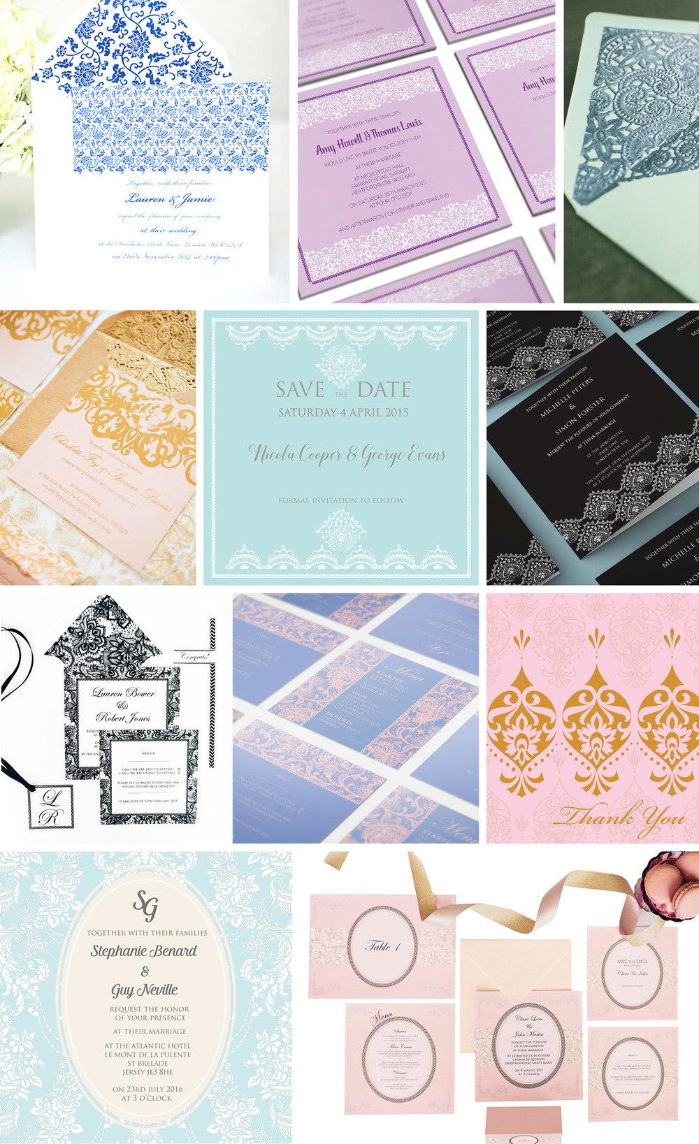 lace wedding invitations ananya
