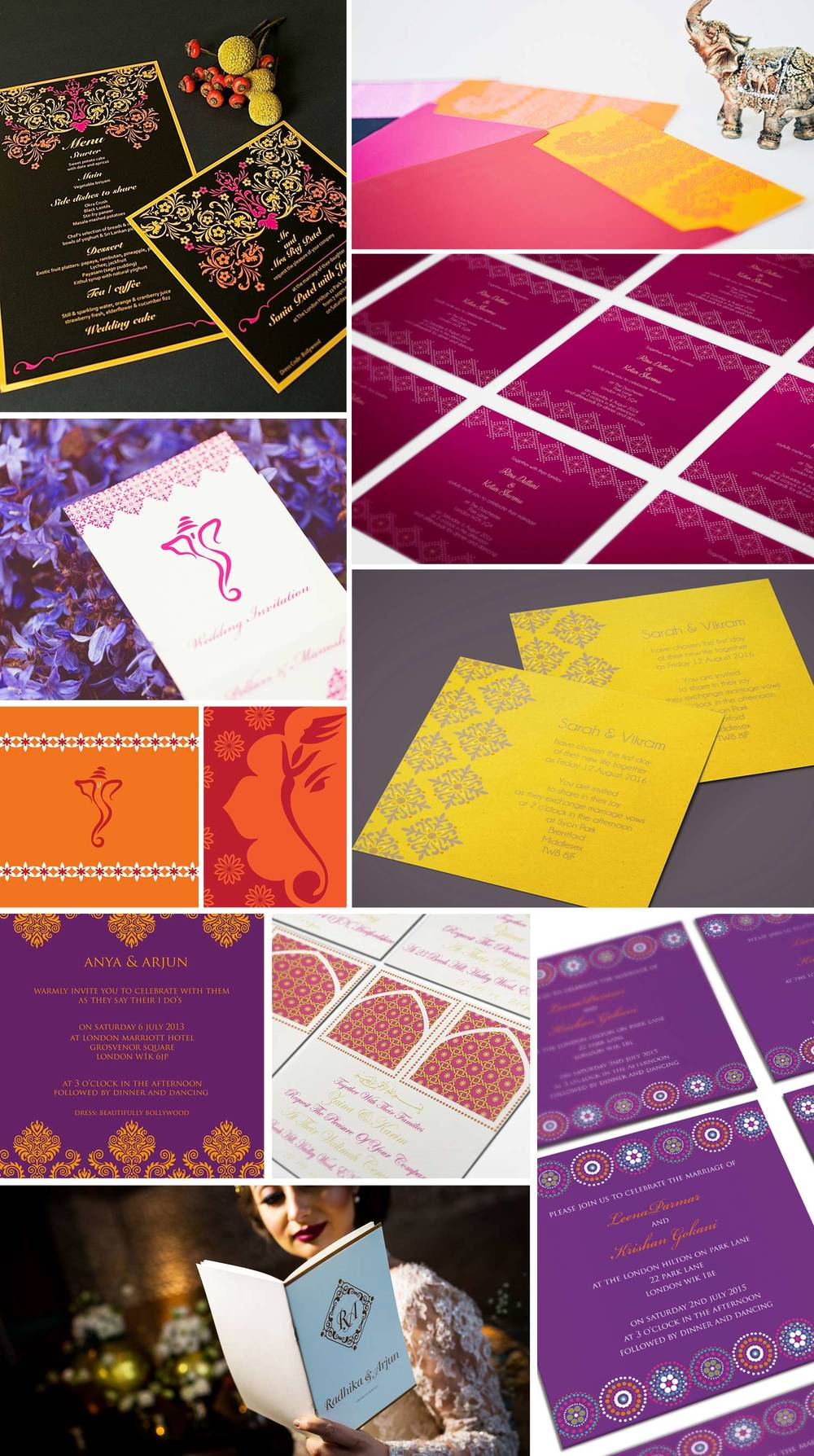 Indian Wedding Invitations by Ananya
