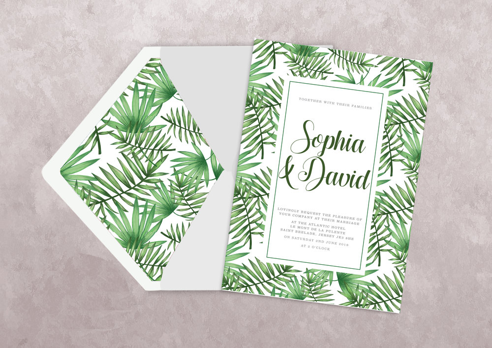 Offset/Litho printed wedding invitation
