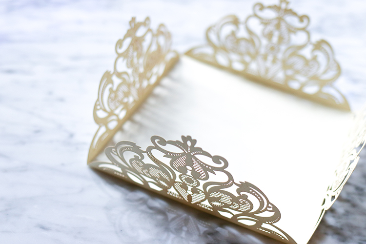 Laser cut wedding stationery