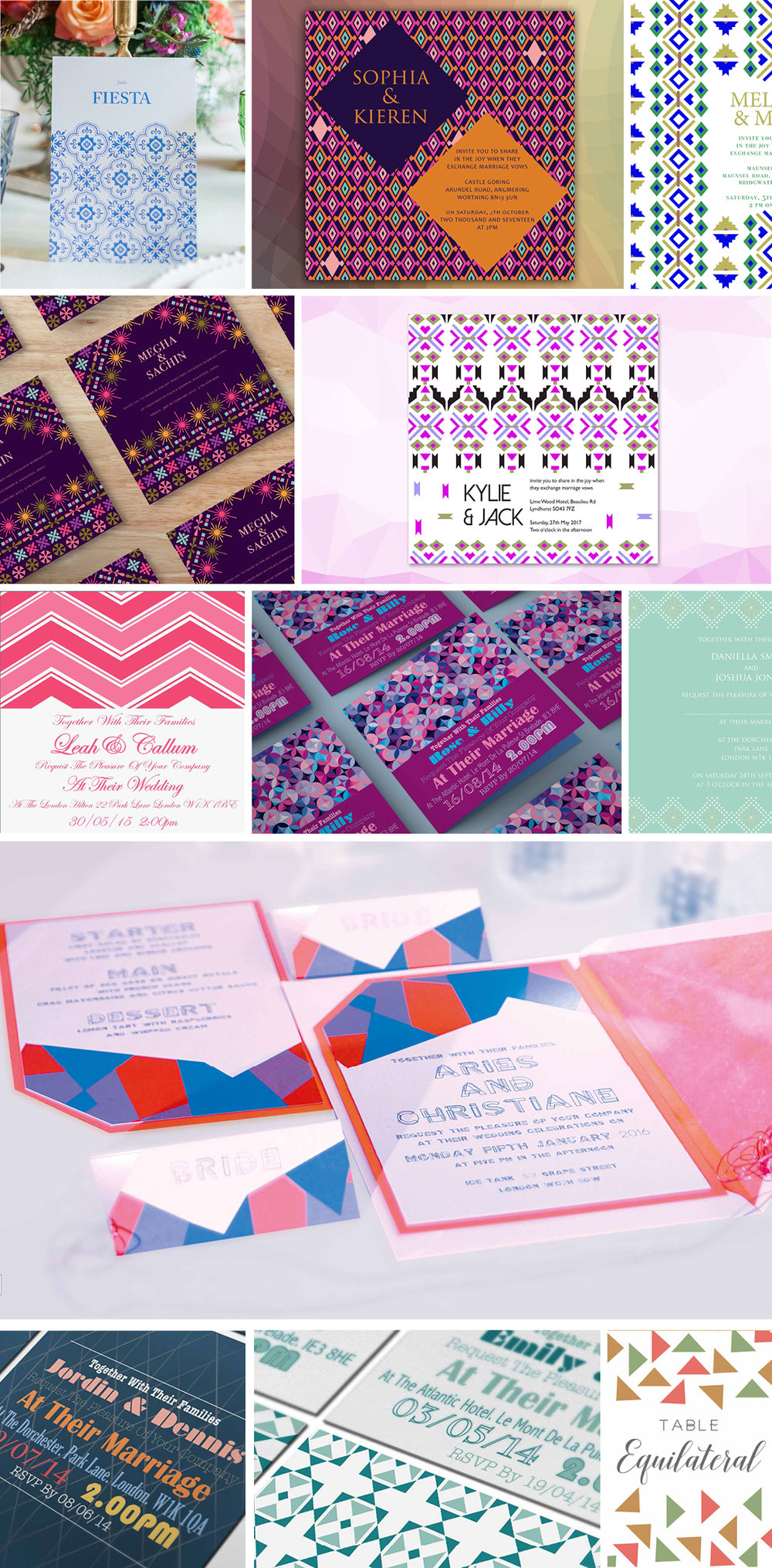 Funky Wedding Invitations by Ananya