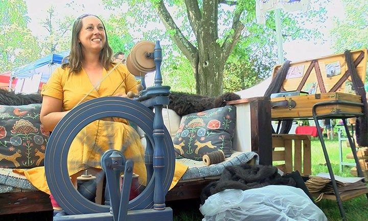 Spinning at Locust Grove Gardener's Fair. Photo courtesy of WAVE3 News.