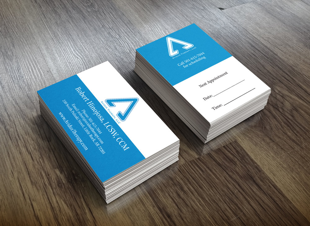 Business Card Design for  Avidus Therapy, LLC