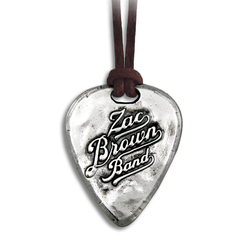 Zac Brown Band- Guitar Pick Pendant- Sterling Silver- By Pennyroyal Jewelry